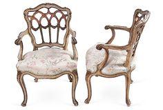 C. 1920 Italian Armchairs, Pair on OneKingsLane.com