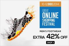 GOSF offer:Extra 42 % off on  Mens Footwear at Snapdeal 12/11/2014 12:23:32 PM64872