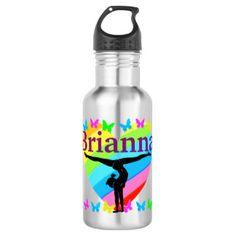 PRETTY RAINBOW PERSONALIZE GYMNASTICS WATER BOTTLE BRAND NEW! Personalized Gymnastics water bottles that your Gymnast is sure to love. http://www.zazzle.com/mysportsstar/gifts?cg=196751399353624165&rf=238246180177746410   #Gymnastics #Gymnast #WomensGymnastics #Gymnastgift #Lovegymnastics #PersonalizedGymnast #Gymnastwaterbottle