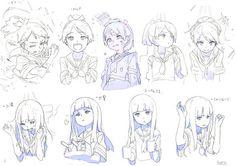 kuro/円居 雄一郎(@kuro_ye) 님 | 트위터의 미디어 트윗 Character Model Sheet, Character Drawing, Character Concept, Concept Art, Anime Girl Drawings, Anime Art Girl, Manga Art, Manga Anime, Anime Faces Expressions