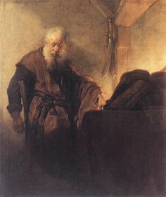Rembrandt: St. Paul at his Writing-Desk (1629-30)