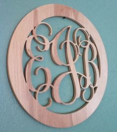 20 inch Custom Vine Monogram  connected letters  by WoodchipsChest, $21.95