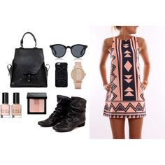 The Felmini Carmen by bulo-shoes on Polyvore featuring Featuring the Vin Baker Zoe backpack and Sunpocket Samoa sunglasses in all black.