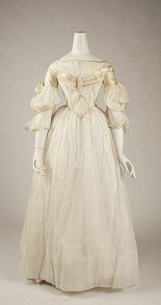 Evening dress ca. 1840 via The Costume Institute of the Metropolitan Museum of Art