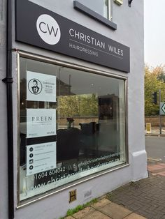 Sign trays and window vinyl