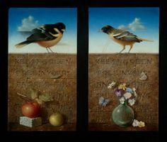 Koo Schadler: Portfolio: Egg Tempera Diptychs, Triptychs & Polyptychs