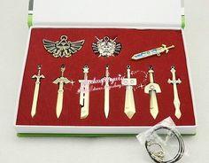 10pcs Bronze The Legend of Zelda Necklace / pendant / keychain  set + box 2014