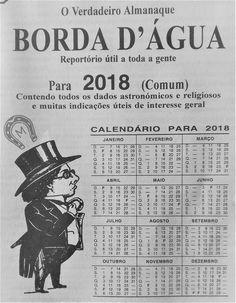 O almanaque Borda d'Água para o mês de FEVEREIRO
