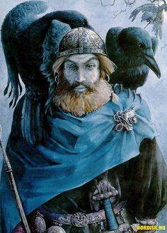 What an amazing representation of Odin's pets!! I love Hugin and Munin!
