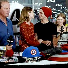 Shelley Hennig and Tyler Posey at MARVEL Live! at New York Comic Con. gif