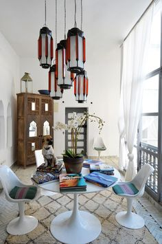 eclectic moroccan dining space via Marrakesh by Design Morrocan Homes by Maryam Montague