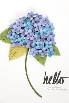 paper quilling - Hydrangea http://blog.naver.com/101kaikei/220438717944