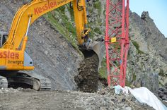 Baggerarbeiten bei der Bergstation #silvrettamontafon #panoramabahn Bahn, Mountains