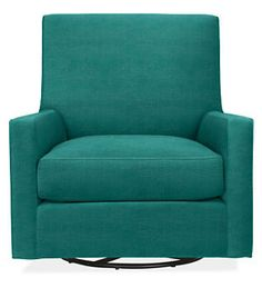 Shay Swivel Chair Glider & Ottoman in Vance Fabric - Rockers & Gliders - Kids - Room & Board