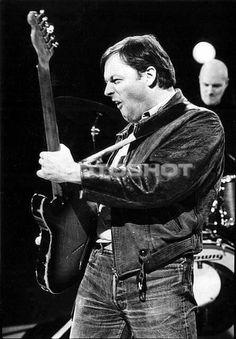 David Gilmour on 80's.  Guitar: Fender Esquire.