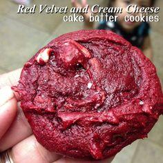 Red velvet cake batter cookies  OH. EM. GEE.