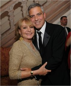 George Clooney and Barbara Walters: Pre-White House Correspondents' Dinner 2012