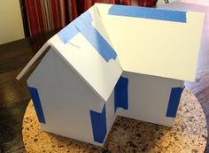Use foam core to craft gingerbread house with the kids. Decorating will cover the tape! Christmas Games, Christmas Crafts For Kids, Holiday Crafts, Christmas Holidays, Christmas Houses, Holiday Ideas, Christmas Ideas, Christmas Decorations, Foam Board Crafts
