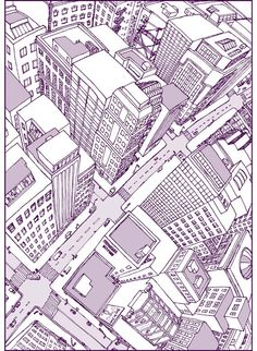 The Watched City - Digital Print by janicej on etsy