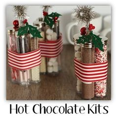 Hot chocolate kit treats for guests or to give out as presents!