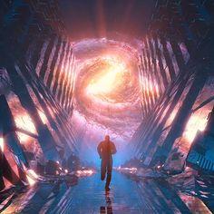 Running man amazing illustration digital artwork video futuristic by visualdon space art Art Cyberpunk, Cyberpunk Aesthetic, Concept Art Landscape, Arte Judaica, Wow Video, Space Artwork, Background Images Wallpapers, Futuristic Art, Fantasy Places