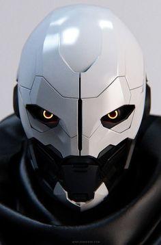 Destiny: Exo 01 - by Mike Jensen - Top Win Space Robot Concept Art, Armor Concept, Character Concept, Character Art, Arte Robot, Sci Fi Armor, Arte Cyberpunk, Cool Masks, Robot Design