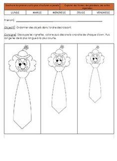Les longueurs et les clowns Theme Carnaval, Carnival, Kindergarten, Creations, Snoopy, Education, Cycle 1, Clowns, Maths