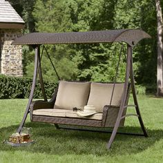 Patio Swing That Folds Down Into A Bed Around The Home