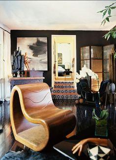 Dark living room LA