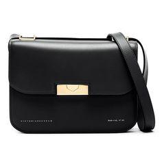 821e09b1aa1 Victoria Beckham Medium Box Eva Black Convertible Calfskin Leather Cross  Body Bag - Tradesy Victoria Beckham