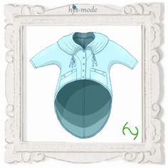 Patterns+jacket+KIMA+blouse+layered+look+hys+-mode+from+bien-art+by+DaWanda.com