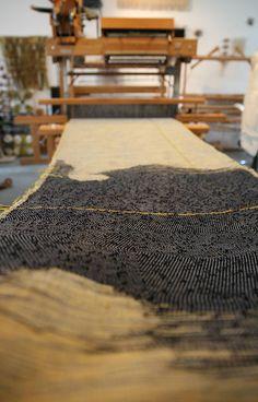 MKemp knotted purple loose Marianne Kemp: Horsehair weaving