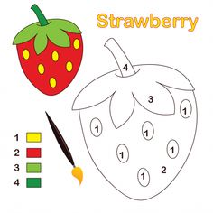 Strawberry Color By Number KidsPressMagazine com is part of Preschool color activities - A Strawberry sits ready to color This color by number activity is simple consisting of only four colors and is perfect as Math Coloring Worksheets, Kindergarten Coloring Pages, Kindergarten Math Worksheets, In Kindergarten, Preschool Color Activities, Preschool Writing, Kids Learning Activities, Teaching Resources, Strawberry Color