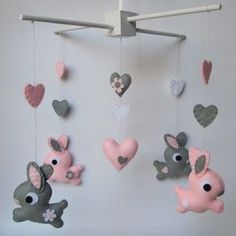 Bunny baby mobile by theprettycollection - wall stickers & decor