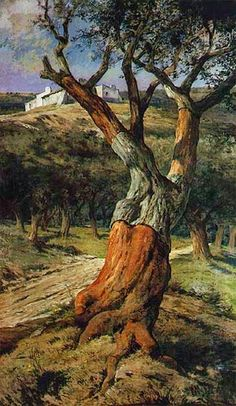 Performed painting by D. Carlos I, the penultimate King of Portugal. Dom Manuel, Gaia, History Of Portugal, Sea Activities, Old Trees, Tree Trunks, Tree Forest, Famous Places, Watercolor Drawing
