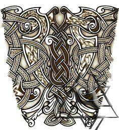 Celtic viking forearm tattoo