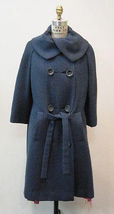 Coat Mainbocher (American, 1890–1976) Date: ca. 1966 Culture: American Medium: wool, silk, plastic