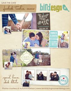 Facebook Timeline Cover Collection - Save the Date Timelines - E381