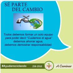 """Recuerda que sin agua no hay vida. Ayudemos a conservar este importante recurso. ¡Ahorremos agua!Contáctenos : 258 2910 / Rpc. 998 178 541 Descubre más de nuestro trabajo aquí:http://acaminarperu.org/donaciones.html """"Acaminar Perú"""" reciclamos para ayudar ❤"""