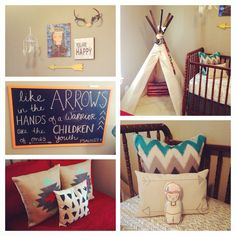 All about arrows! Draw from some serious arrow-inspiration for your Aztec inspired or tribal themed nursery.