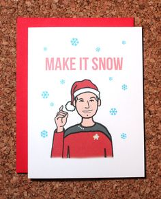 Thank you, Kris!! :) Star Trek Christmas Card / Make it snow Picard / by WhamCards