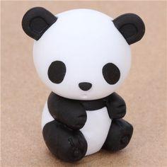 cute Japanese panda eraser from Iwako 1 ~neeeeed Polymer Clay Animals, Cute Polymer Clay, Cute Clay, Polymer Clay Charms, Diy Fimo, Diy Clay, Clay Crafts, Eraser Collection, Cool Erasers