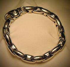 - Armband von Chimento - 750 Weißgold - 1 kleiner Brillant - Gewicht 29,38gr. - Länge 20 cm