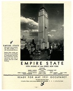 The Empire State Building | Ready for Occupancy - 1931 | #vintage #NYC