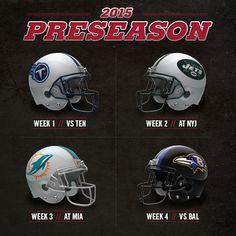 The Falcons' 2015 preseason schedule is set. #RiseUp