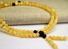 Genuine Baltic Amber Buddhist Mala rosary prayer 108 beads