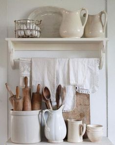 Great Shabby Chic Kitchen Ideas To Get You Started Country Farmhouse Decor, Modern Farmhouse Kitchens, Farmhouse Style Kitchen, Shabby Chic Kitchen, Country Kitchen, Vintage Farmhouse, Farmhouse Ideas, Fresh Farmhouse, Kitchen Rustic