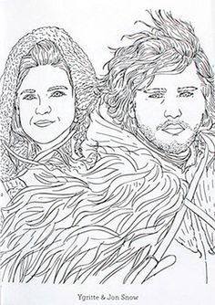 The ficial A Game of Thrones Coloring Book George R R