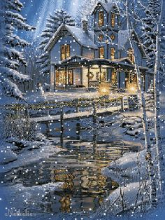 Download Animated 240x320 «Снегопад» Cell Phone Wallpaper. Category: Holidays