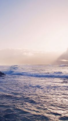 Sea Ocean Rock Nature Wave Sky #iPhone #5s #wallpaper